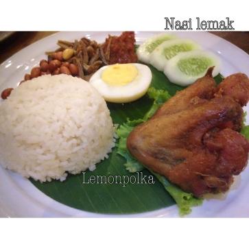 Nasi lemaknya enak.Sayangnya,menu dari ayam hanya sayap 😒